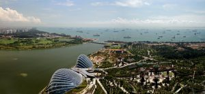 Gardens by the Bay from afar. Gardens by the bay price. Gardens by the bay opening hours